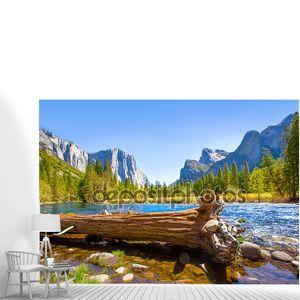 надземную железную дорогу capitan Yosemite река Мерсед и купол половины.