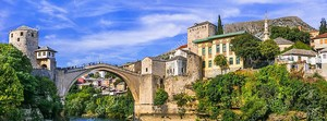 Старый город Мостар со старым мостом