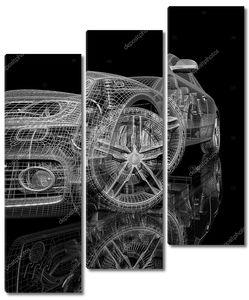 3d модель автомобиля на черном фоне