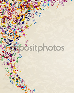 красочные музыкальные примечания