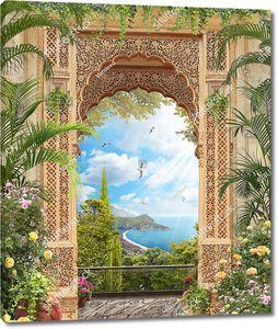 Восточная арка с видом на морскую косу