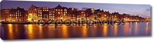 Панорама из Амстердама с Munt башня в Нидерландах