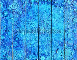 Hand painted blue floral background5