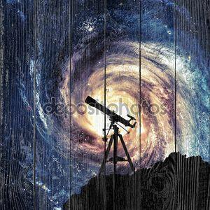 Силуэт телескоп