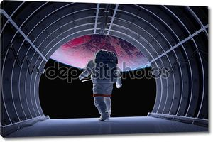 Астронавт в туннеле