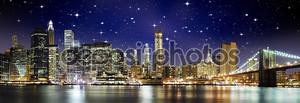 Ночь цвета на Бруклинский мост