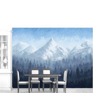 Вершины гор над лесом