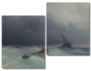 Айвазовский. Буря на море