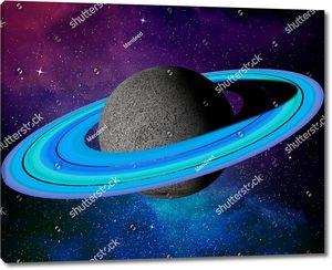 Планета с голубыми кольцами