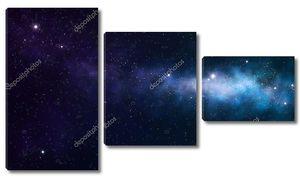 Синие и фиолетовые туманность