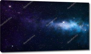 Туманность на черном космическом фоне