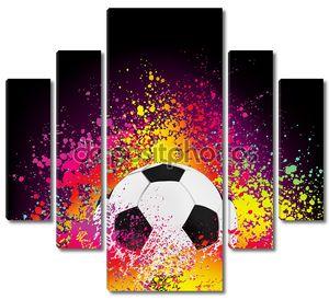 Красочный фон с футбольным мячом. EPS 8