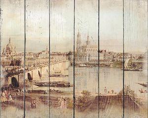 Фреска с прекрасным видом на старинный город