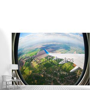 View through airplane porthole
