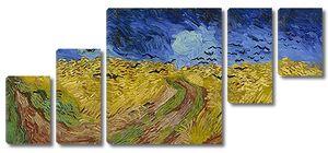 Ван Гог. Пшеничное поле под грозовым небом