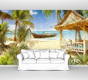 Лодка у райского берега