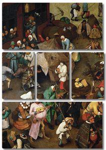 Брейгель Битва карнавала и поста. (4)