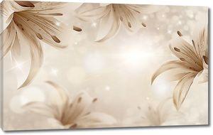 Бежевые лилии