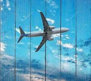Большой реактивный самолет в небе