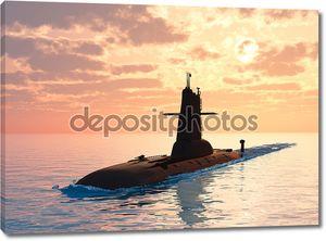 Подводная лодка на закате