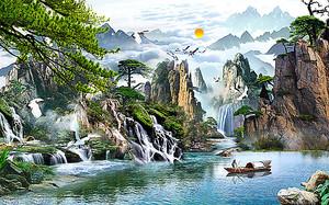 Рыбак на горном озере