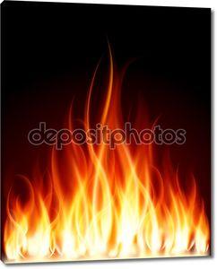 Записать пламя огня
