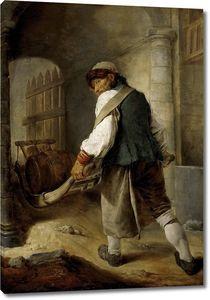 Ютен Шарль Франсуа. Саксонский крестьянин, везущий бочку