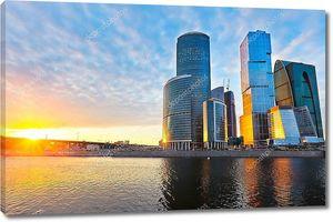 Закат над Москва Сити