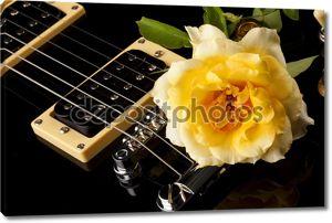 Желтая Rose Black электрогитара
