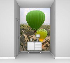 Воздушные шары шоу в горах