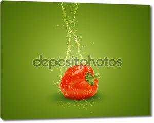 свежий красный перец