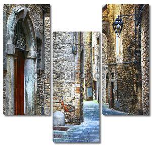 красивые старые улицы итальянских средневековых городов