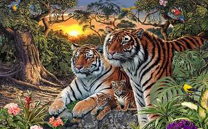 Семья тигров