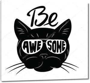 Черная кошка значок
