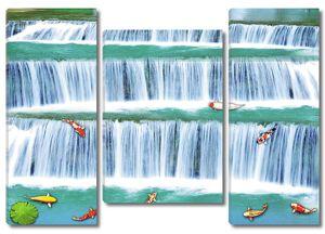 Рыбки в водопаде