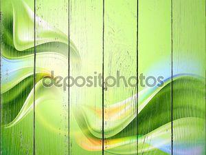 Зеленый фон с радужными линиями