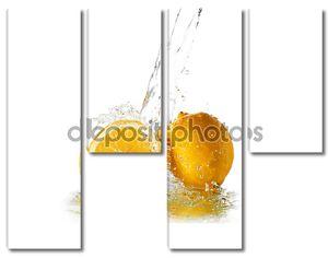 Плеск воды на лимон