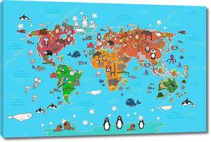 Детская карта с пингвинами