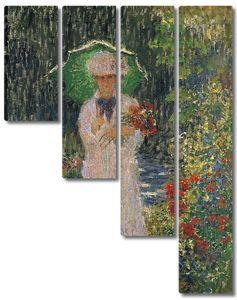 Моне Клод. Камилла с зеленым зонтиком, 1876