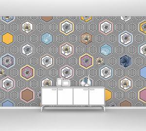 Geometrical fusion-цветной орнамент из сот