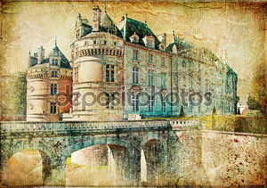 Old medieval castle - picture in vintage style