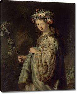 Рембрандт. Флора (Саския ван Эйленбург в образе Флоры)
