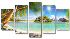 Прекрасная солнечная погода на пляже