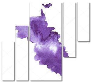 Фиолетовое пятно на белом фоне