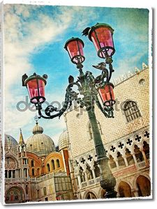 Старая открытка с Венецианской Фонари