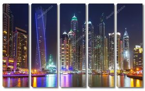 Дубай-Марина в ночное время