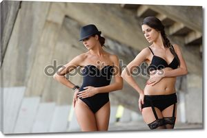 Девушки в нижнем белье пара
