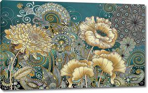 Огурцовый цветочный узор