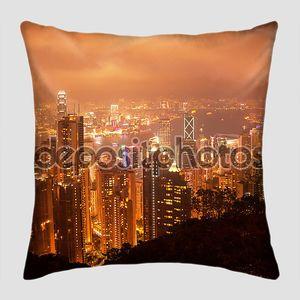 Гонконг ночной вид с пика Виктории