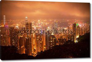 Ночная точка зрения Гонконга